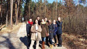 Uczestnicy zimowego obozu